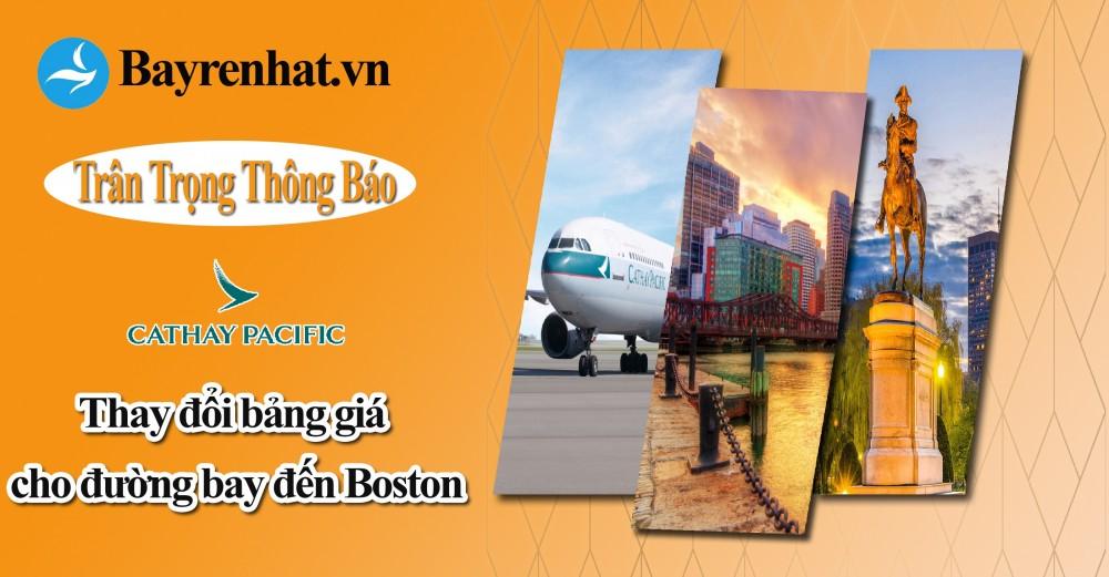 Cathay Pacific Xin Thông Báo Bảng Giá Mùa Thay đổi