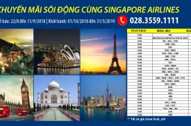 Khuyến mãi sôi động cùng Singapore Airlines