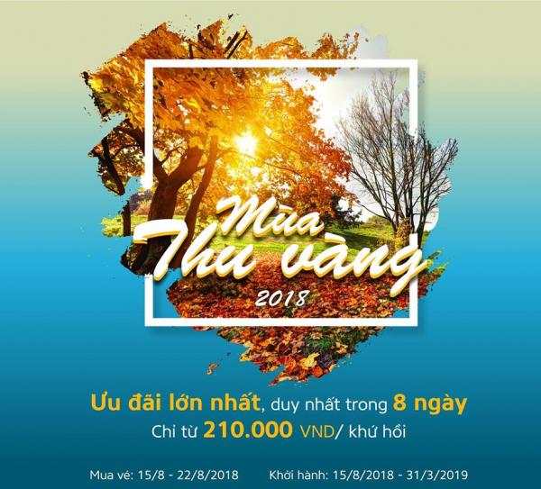 VIETNAM AIRLINES MỞ BÁN KHUYẾN MẠI CHÀO MÙA THU VÀNG NĂM 2018