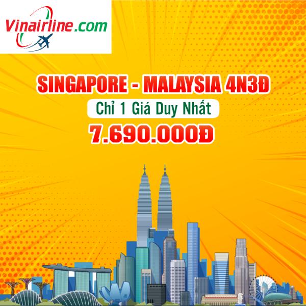Du Lịch Hà Nội - Singapore - Malaysia 4 Ngày Bay Vietjet Air & Air Asia giá chỉ 7.690.000Đ