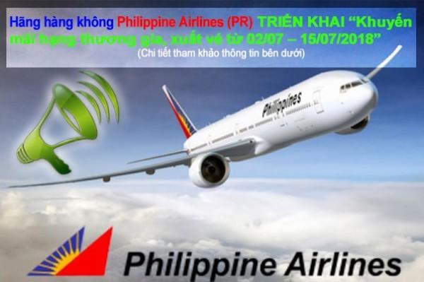 Hãng Hàng không Philippine Airlines thông báo chương trình khuyến mãi 2018