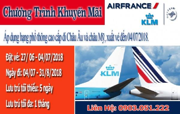 Hãng Hàng không Air France (AFKLM) thông báo chương trình khuyến mãi 2018