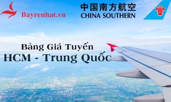 China Southern Airlines Cập Nhật Bảng Giá Khuyến Mãi tuyến Hồ Chí Minh-Trung Quốc