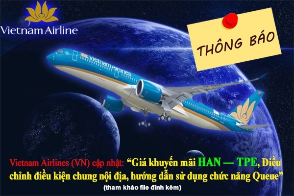 Hãng Hàng không Vietnam Airlines (VN) thông báo chương trình khuyến mãi 2018