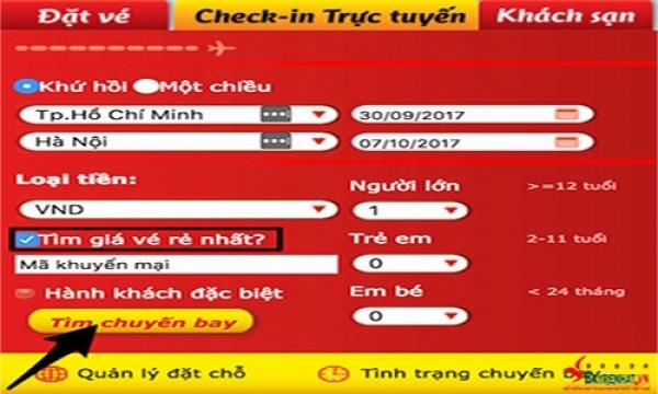 Cách đặt vé máy bay Vietjet Air trực tuyến
