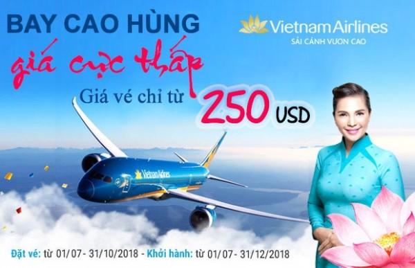 Vietnam Airlines tung loạt vé Hồ Chí Minh–Cao Hùng chỉ từ 250 USD