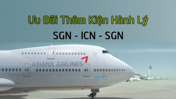 Asiana Airlines(OZ) Triển Khai Ưu Đãi Thêm Kiện Hành Lý
