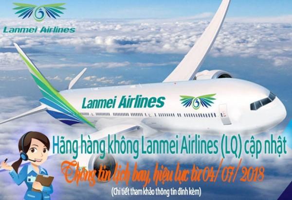 Hãng hàng không Lanmei Airlines cập nhật thông tin lịch bay
