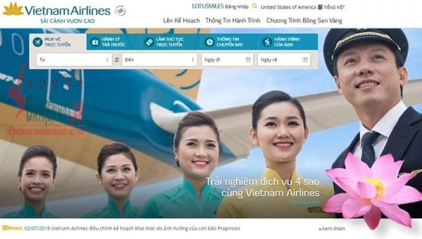 Cách đặt vé máy bay Vietnam Airlines trực tuyến