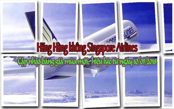 Hãng Hàng không Singapore Airlines Cập nhật bảng giá mùa mới
