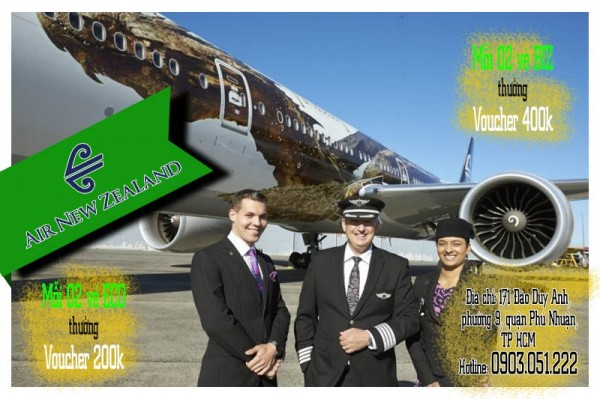 Trải nghiệm New Zealand bay cùng New Zealand nhận Vouchers | Bayrenhat.vn