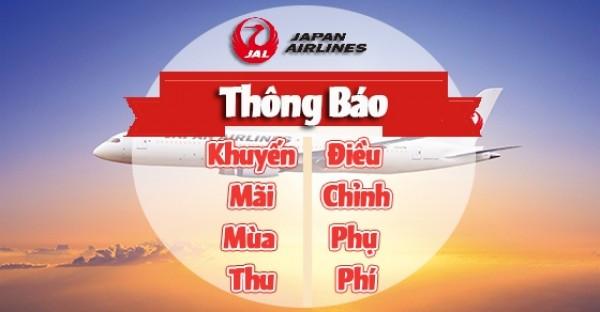 Hãng Japan Airlines Thông Báo