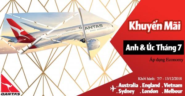 Qantas Airlines Thông Báo Chương Trình Khuyến Mãi Tháng 7