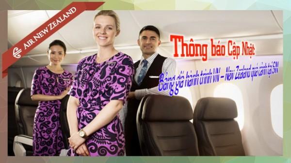 Hãng hàng không Air New Zealand cập nhật bảng giá hành trình VN–New Zealand quá cảnh tại Singapore