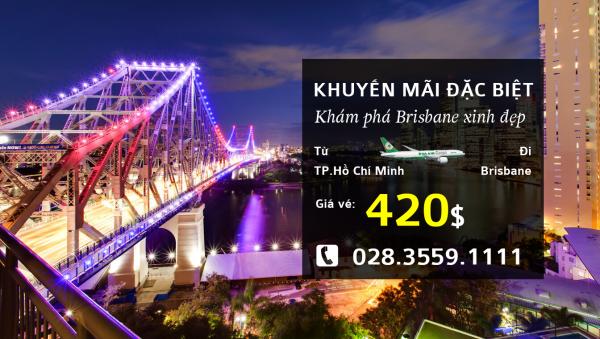 Hãng hàng không Eva Airkhuyến mãiđếnBrisbane (Úc)giá vé từ 420USD
