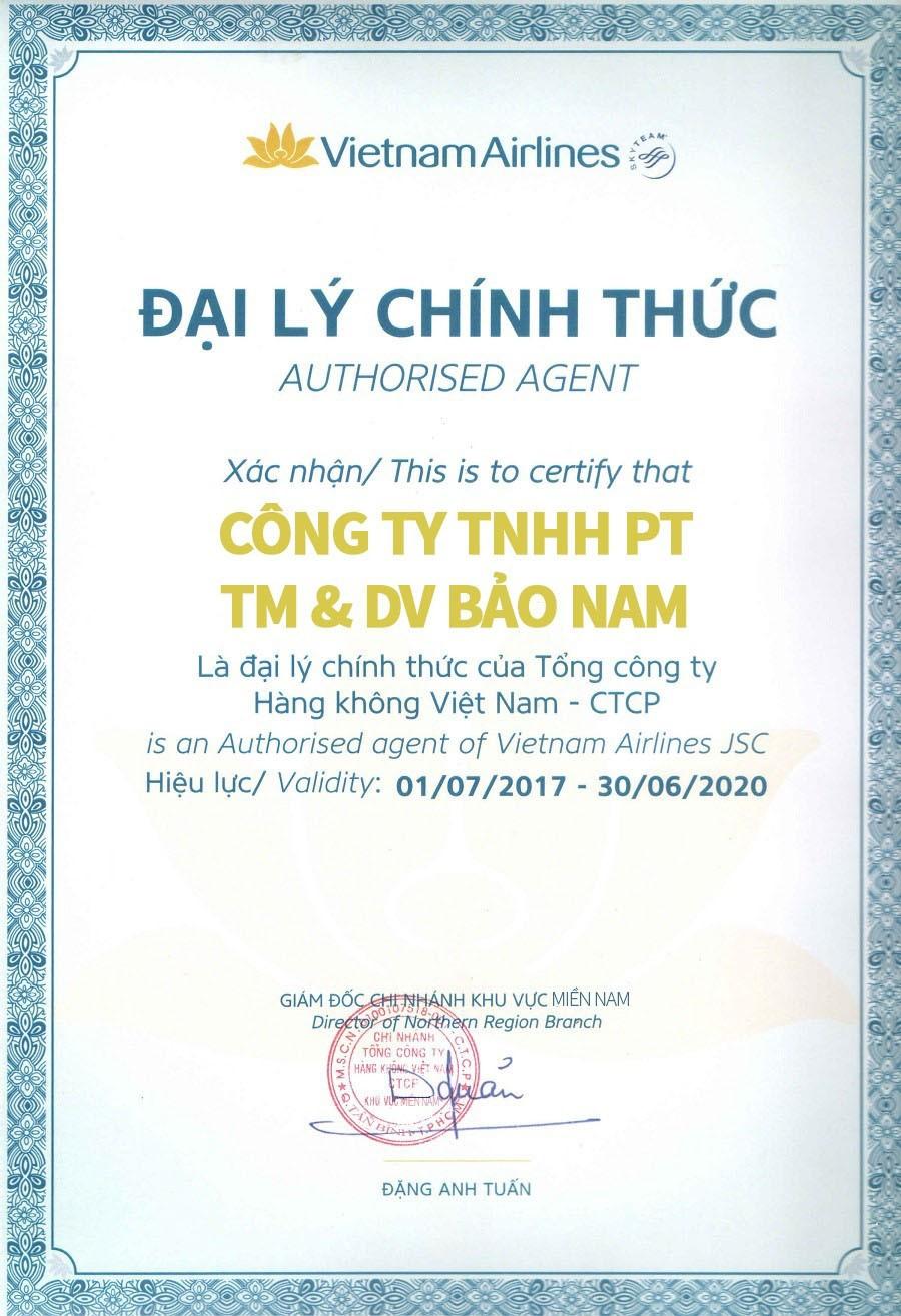 Đại lý chính thức của Vietnam Airlines