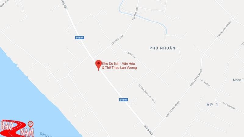 Vị trí khu du lịch Lan Vương trên bản đồ